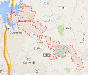davidson-north-carolina-home-search-map